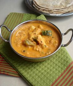With the Diwali fever over, everyone must have fallen back into their regular routine. After indulging in all the oily and sugar . Vegetarian Gravy, Vegetarian Recipes, Just Eat It, Curry Recipes, Vegan Dinners, Stew, Diwali, Indian, Snacks