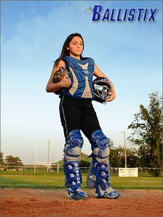 Softball Catcher Portrait in Easton Catcher's gear. Love my softball girl! Can't wait for pictures! Senior Softball, Softball Uniforms, Softball Players, Girls Softball, Softball Stuff, Softball Hair, Volleyball Drills, Volleyball Quotes, Girls Basketball
