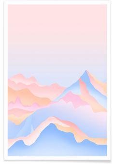 Pastel Mountain design print. Pastel Art, Pretty