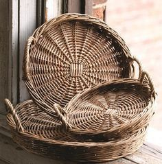 Round Willow Baskets, love these cute baskets for organizing!