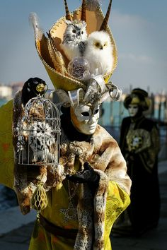 Carnevale di Venezia Veneto any body wanna buy a birdie? Venice Carnival Costumes, Mardi Gras Carnival, Venetian Carnival Masks, Carnival Of Venice, Venetian Masquerade, Masquerade Ball, Venice Carnivale, Day Of The Dead Mask, Costume Venitien