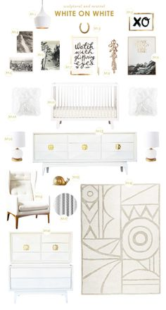Spotted our Salong Rug in this white on white nursery by @Joni Wells Lay / Lay Baby Lay!