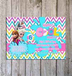 DIY Printable Frozen Summer Birthday Invitation by GUGUKIDSDESIGN, $8.00