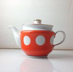 Vintage soviet teapot / retro teapot / red teapot on Etsy, 28,71 €