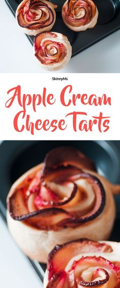 These Apple Cream Cheese Tarts are easier to make than you think! Let's get started! :) #healthyrecipes #tarts #cleaneating