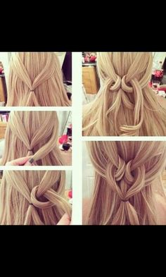 Cute heart hair do. Would be fun to try with the kiddos.