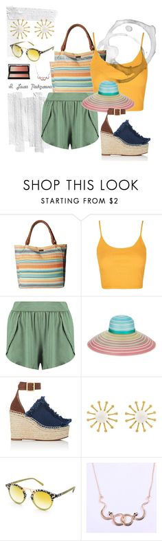 """Right Road"" by chelsofly on Polyvore featuring Rip Curl, Topshop, Boohoo, Missoni, Chloé, Meg Carter Designs, Krewe and Kevyn Aucoin"