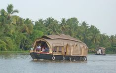 Kettuvallam [ Kerala Houseboat ] --- Kettuvallam is a house boat widely used in the Indian state of Kerala. These have thatched roof covers over wooden hulls.The traditional kettuvallam is mainly used for promoting tourism in Kerala, India.