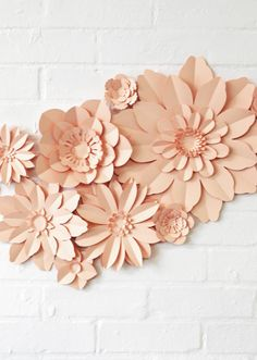 Set of 11 paper flowers for wedding decoration kit by comeuppance
