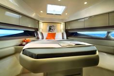 Azimut Yacht Bedroom Interior - Seatech Marine Products / Daily Watermakers