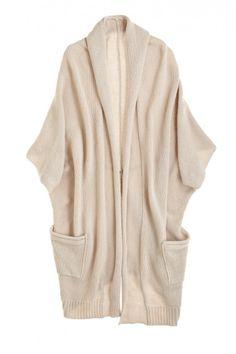 Cashmere Cocoon Pocketed Cardigan @Kristen Kyslinger St. Barth