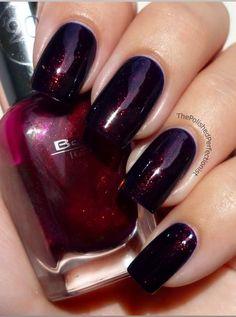 Pretty dark red Nail polish
