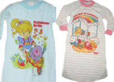 Rainbow Brite child's pajamas I use to Love Rainbow Brite when I was little and I think I had one of theses PJ's