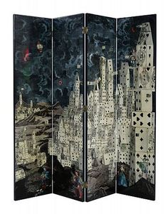 grant noren tree folding room divider-screen, artistic artisan
