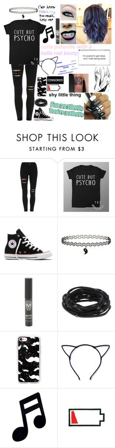 """""""Cute but Psycho"""" by emmcg915 ❤ liked on Polyvore featuring Converse, Topshop, Tomasz Donocik, Casetify and Paul Smith"""