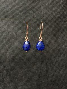 Rose gold Lapis Lazuli Earrings