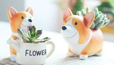 If you're shopping for someone who is obsessed with this low-riding pup, you must check out our collection of the 10 best Corgi gifts! Planting Succulents, Potted Plants, Plant Pots, Corgi Names, Corgi Gifts, Flower Pots, Flowers, Plant Decor, Cool Gadgets