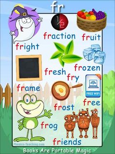 fr Phonics Poster - a FREE PRINTABLE poster for auditory discrimination, sound studies, vocabulary and classroom reference.