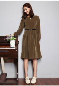Femmes automne robe robe manches longues robe pull par JulyFlower