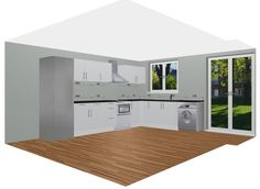 White Matte Mahlzeit by Rational Kitchen. Use the Free 3D Kitchen Planner to Design Your Dream Kitchen.