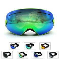 Kids Ski Goggles Double lens UV400 anti-fog ski glasses snow goggle changeable lens Girls Boys Snowboard ski goggles #clothing,#shoes,#jewelry,#women,#men,#hats,#watches,#belts,#fashion,#style