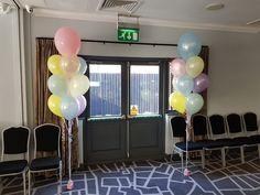 Bouquets of 10 latex balloons in beautiful pastel shades. #cardiffballoons #heliumballoons #christeningballoons #babyshowerballoons