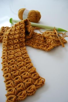 Unique crochet stitches.
