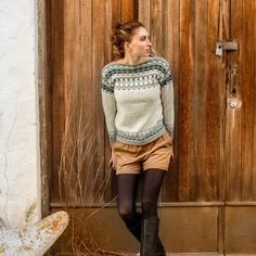 Part of the 320 Collection, the Grill Genser is made in Dale Alpakka. ~Digital patterns are not returnable~ Fair Isle Knitting, Hand Knitting, Knitting Sweaters, Fall Winter Outfits, Winter Fashion, Sous Pull, Sustainable Clothing, Sweater Design, Knitting For Beginners