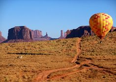 Take a hot air balloon flight over Monument Valley in the USA. #visitusa