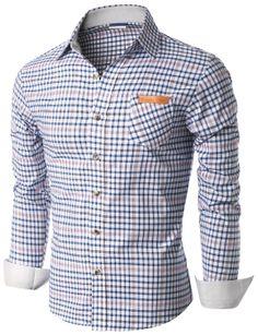 $19.99 Doublju Mens Long Sleeve Check Print Shirts (KMTSTL0182)&url=http://www.doublju.com/doublju-mens-long-sleeve-check-print-shirts-kmtstl0182