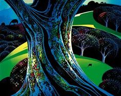 Eyvind Earle: one of Daniel Ryan's artist inpsirations! Eyvind Earle, Famous Artists, Elements Of Art, Tree Art, Cool Art, Phoenix Art Museum, Magic Realism, Artwork Painting, American Artists
