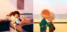 Pequenos gestos   Novas ilustrações mostram que o amor verdadeiro pode ser muito mais simples