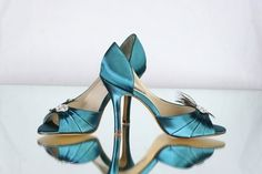 Peacock Shoe  Teal  Gatsby Wedding  Roaring Twenties by Parisxox