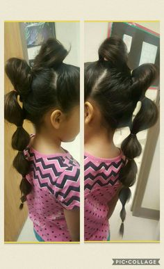 Crazy hair day. Easy girls fluffy mohawk hairstyle.