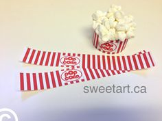 Popcorn wrappers for your cupcakes!