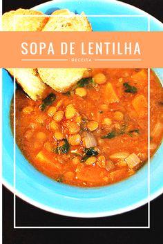 Essa sopa de lentilha é tão saborosa e nutritiva que da vontade de comer toda semana! Além disso é super fácil de fazer.  Nada como uma sopa de lentilha caseira para aquecer uma noite fria não é mesmo? Vem aprender a receita.