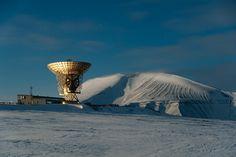 EISCAT Svalbar Radar by Moonlight by Sigurd Rage on 500px