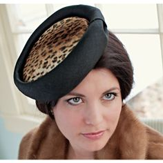 Classic hat with a modern edge.  The Desdemona from the Olive and Jane Soiree Collection.