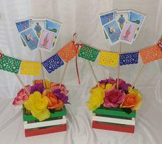 Fiesta Party Centerpieces, Mexican Centerpiece, Mexican Party Decorations, Quinceanera Centerpieces, Quinceanera Ideas, Mexican Birthday Parties, Mexican Fiesta Party, Fiesta Theme Party, Party Themes