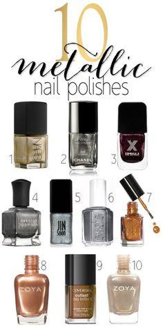 Such pretty metallic nail polishes! I want them all!