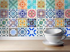 Traditional Spanish Tiles Stickers - Tiles Decals - Tiles for Kitchen Backsplash or Bathroom - PACK OF 16 - SKU:SpanishTiles by homeartstickers on Etsy https://www.etsy.com/listing/212856381/traditional-spanish-tiles-stickers-tiles
