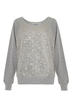 Another relaxed weekend option...  Ellen Sequin Swear Top - Sweaters - French Connection Usa