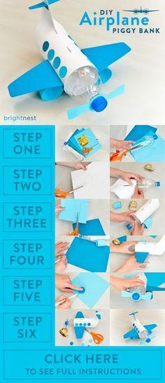 BrightNest   For Kids: Make a Unique Piggy Bank out of a Plastic Bottle! See the full #DIY on http://BrightNest.com