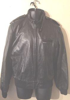 Vintage 80s Burgundy Leather Racer Jacket / Oxblood Bermans Cafe Jacket / Size 42 4Z7VMlL
