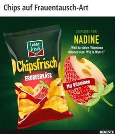 Chips auf Frauentausch-Art.. | Lustige Bilder, Sprüche, Witze, echt lustig