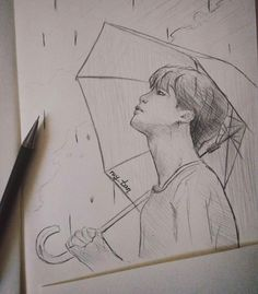 Love yourself bts art jimin Kpop Fanart, Jimin Fanart, Kpop Drawings, Pencil Drawings, Fan Art, Art Sketches, Bts Jimin, Painting, Visual Arts