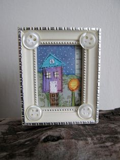 No. 6 Tiny Street. A wee 2x2.5 inch frame.