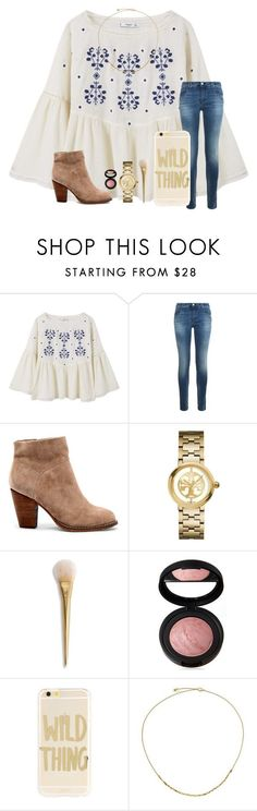 """""""Day 3 • how many times Will you walk away I just got to let you know that I am not trying to start a fire with this flame•"""" by kari-luvs-u-2 ❤ liked on Polyvore featuring MANGO, Armani Jeans, Sole Society, Tory Burch, Laura Geller, Sonix and Astley Clarke"""