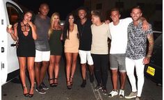 Night out! Later the girls posed alongside their fellow cast, including Nathan Henry, Kyle Christie, Marty McKenna, Gaz Beadle and Aaron Chalmers Geordie Shore Cast, Mtv, Newcastle, Simpsons Party, Holly Hagan, Ayia Napa, Party Scene, Blonde Beauty, Teenager Outfits