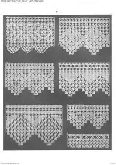 This Pin was discovered by Nur Filet Crochet, Crochet Lace Edging, Crochet Borders, Crochet Cross, Crochet Diagram, Crochet Stitches Patterns, Crochet Chart, Love Crochet, Crochet Doilies